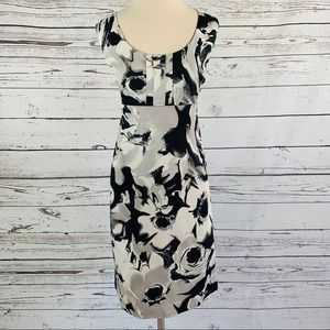 New York & Company watercolor floral dress